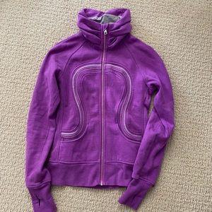 Lululemon cuddle up jacket violet purple fleece